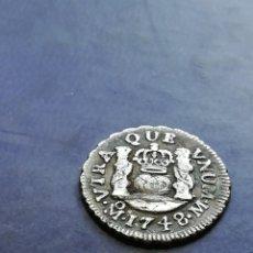 Monedas de España: MEDIO REAL 1748 COLUMNARIO PLATA. Lote 147706462