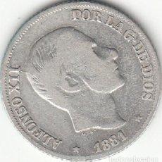 Monedas de España: ALFONSO XII: 10 CENTAVOS PESO 1881 FILIPINAS ( PLATA ). Lote 147726694