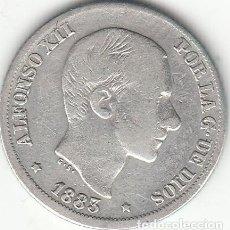 Monedas de España: ALFONSO XII: 10 CENTAVOS PESO 1883 FILIPINAS ( PLATA ). Lote 147727118