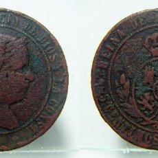 Monedas de España: MONEDA DE ISABEL II 5 CENTIMOS DE ESCUDO 1867 CECA SEVILLA. Lote 147764782