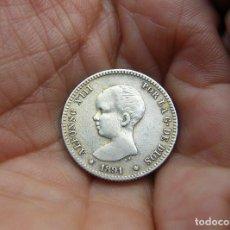 Monedas de España: ALFONSO XIII 1 PESETA 1891*91 PLATA -ESTRELLAS PERFECTAS-. Lote 147786570