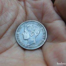 Monedas de España: ALFONSO XIII 1 PESETA 1902 PLATA --RARA--. Lote 147787574