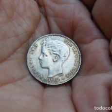 Monedas de España: ALFONSO XIII 1 PESETA 1901*1901 PLATA -MUY BONITA-. Lote 147787730