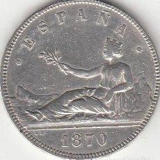 Monedas de España: I REPUBLICA: 5 PESETAS 1870 ESTRELLAS 18-70 ( PLATA ). Lote 147814002