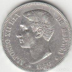 Monedas de España: ALFONSO XII: 5 PESETAS 1876 ESTRELLAS 18-76 ( PLATA ). Lote 147815102