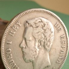 Monedas de España: MONEDA 5 PESETAS PLATA AMADEO I 1871 ESTRELLAS 18 - 71 REF .12. Lote 147823978