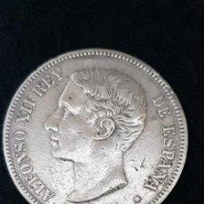 Monedas de España: 5 PESETAS DE PLATA ALFONSO XII 1875. Lote 147869606