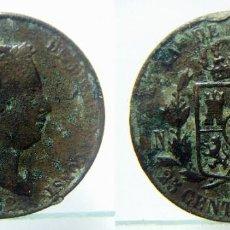 Monedas de España: MONEDA DE ISABEL II 25 CENTIMOS DE REAL 1862 CECA SEGOVIA. Lote 147895438