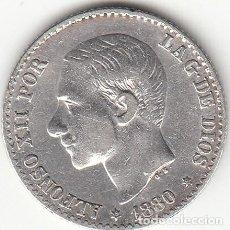 Monedas de España: ALFONSO XII: 50 CENTIMOS 1880 ESTRELLAS 8-0 ( PLATA ). Lote 147974402