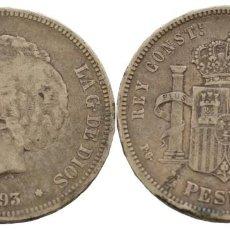 Monedas de España: 5 PESETAS 1893 PGV. Lote 147974550