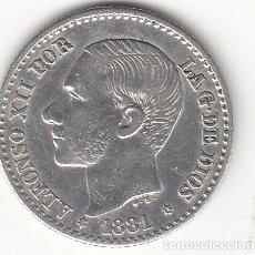 Monedas de España: ALFONSO XII: 50 CENTIMOS 1881 ESTRELLAS 8-1 ( PLATA ). Lote 147975098