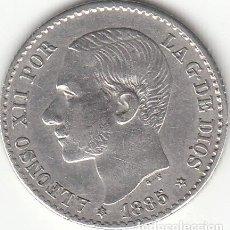 Monedas de España: ALFONSO XII: 50 CENTIMOS 1885 ESTRELLAS 8-6 ( PLATA ). Lote 147975690