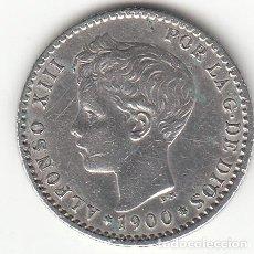 Monedas de España: ALFONSO XII: 50 CENTIMOS 1900 ESTRELLAS 0-0 ( PLATA ). Lote 147980714