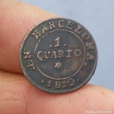 Monedas de España: 1 QUARTO NAPOLEÓN 1810 BARCELONA. Lote 147985398