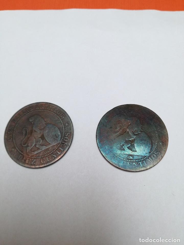 Monedas de España: 10 céntimos Gobierno Provisional 1870 - Foto 2 - 147991138