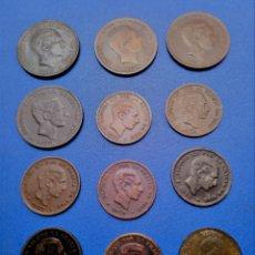 Monedas de España: LOTE COLECCION: 12 MONEDAS DE 5 Y 10 CTS DE COBRE DE ALFONSO XII - ALGUNA SIN CIRCULAR. Lote 148003150