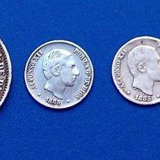 Monedas de España: LOTE DE 4 MONEDAS ALFONSO XII CENTAVOS DE PESO UNA DE 50 CTV Y TRES DE 10 CTV. Lote 148052618