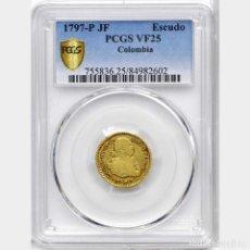 Monedas de España: CARLOS IV - 1 ESCUDO DE ORO - POPAYAN - AÑO 1797 -. Lote 148174210