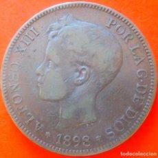 Monedas de España: ESPAÑA, 5 PESETAS, 1898. ALFONSO XIII. PLATA.. Lote 148268078