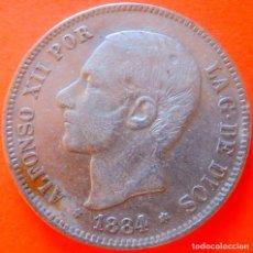 Monedas de España: ESPAÑA, 5 PESETAS, 1884, *18*84 MSM. ALFONSO XII. PLATA.. Lote 148272054