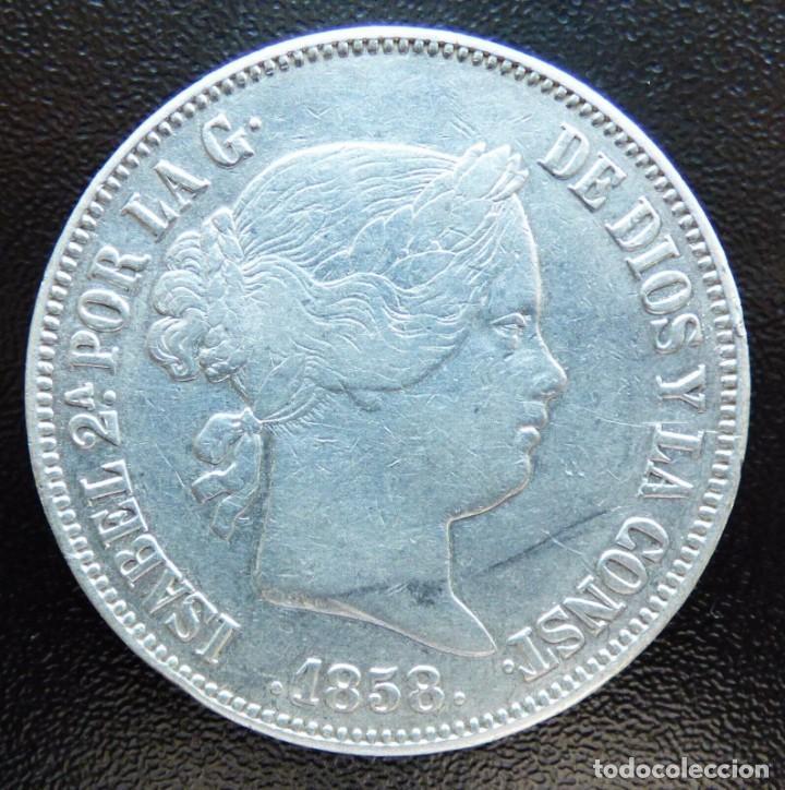 20 REALES ISABEL II 1858 MADRID (Numismática - España Modernas y Contemporáneas - De Isabel II (1.834) a Alfonso XIII (1.931))