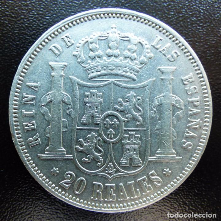 Monedas de España: 20 REALES ISABEL II 1858 MADRID - Foto 2 - 148318222