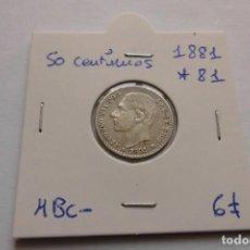 Monedas de España: 50 CENTIMOS 1881 * 81 ALFONSO XII. Lote 148368394