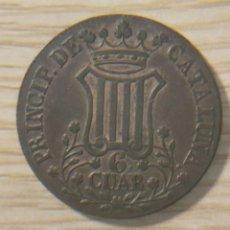 Monedas de España: 6 CUAR 1841 ISABEL II PRINCIPADO DE CATALUÑA, COBRE. Lote 148851293