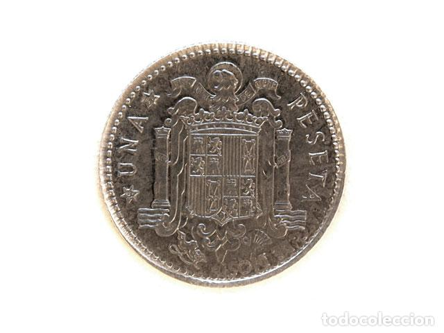 Monedas de España: Moneda 1 pts, Juan Carlos I, 1975-77 - Foto 2 - 148878974