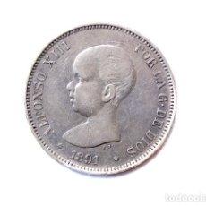 Monedas de España - Moneda 5 Pts, Alfonso XIII, 1891 - 148879102