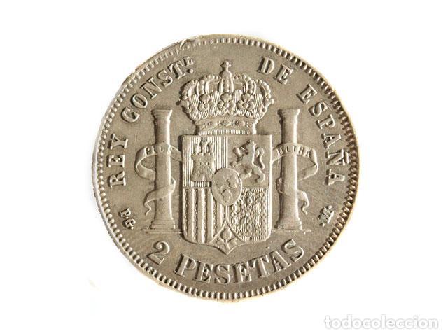 Monedas de España: Moneda 2 pts, Alfonso XIII, 1892 - Foto 2 - 148879126
