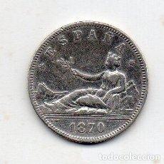 Monedas de España: 1ª REPÚBLICA ESPAÑOLA. 2 PESETAS. AÑO 1870 *18 *73. DE-M. PLATA.. Lote 148940810