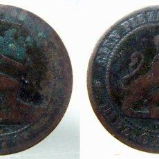 Monedas de España: MONEDA DE GOBIERNO PROVISIONAL 10 CENTIMOS 1870. Lote 149007578