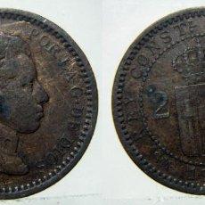 Monete da Spagna: MONEDA DE ALFONSO XIII 2 CENTIMOS DE 1904. Lote 149205986