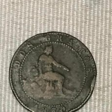 Monedas de España: MONEDA 2 CÉNTIMOS DE 1870 GOBIERNO PROVISIONAL.COBRE. . Lote 149532694