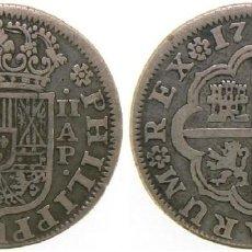 Moedas de Espanha: 3753-2 REALES EN PLATA DE FELIPE V AÑO 1735-AP- SEVILLA, MUY BUENA CONSERVACIÓN. Lote 149843374