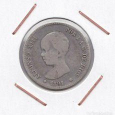 Monedas de España: ALFONSO XIII : 1 PESETA 1891 ( ) PGM ( PLATA ) R 3161. Lote 149991282