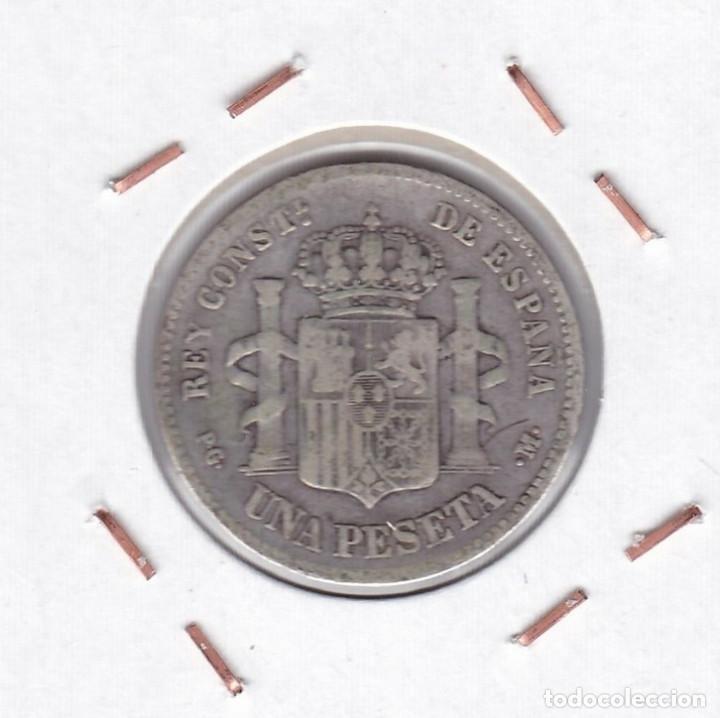 Monedas de España: Alfonso XIII : 1 Peseta 1891 ( ) PGM ( plata ) r 3161 - Foto 2 - 149991282