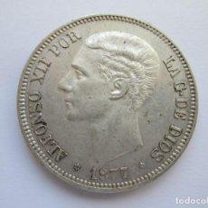 Monedas de España: ALFONSO XII * 5 PESETAS 1877*77 DE M * PLATA. Lote 150037722