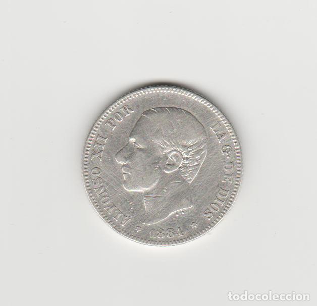 ALFONSO XII- 2 PESETAS-1884*18-84 MSM (Numismática - España Modernas y Contemporáneas - De Isabel II (1.834) a Alfonso XIII (1.931))