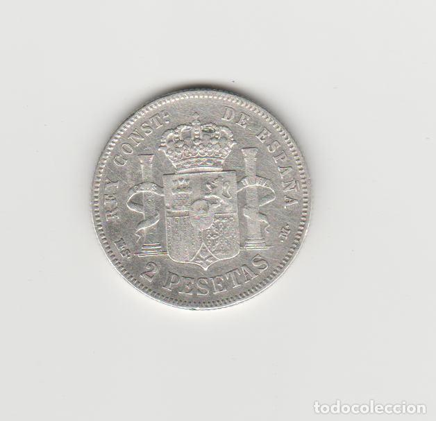 Monedas de España: ALFONSO XII- 2 PESETAS-1884*18-84 MSM - Foto 2 - 150167438