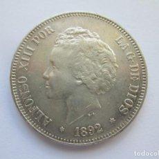 Monedas de España: ALFONSO XIII * 5 PESETAS 1892*92 PG M * PLATA. Lote 150303986