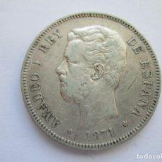Monedas de España: AMADEO I * 5 PESETAS 1871*75 DE M * PLATA. Lote 150305718