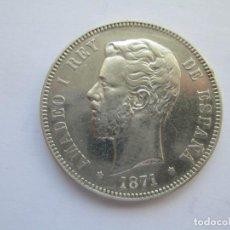 Monedas de España: AMADEO I * 5 PESETAS 1871*74 DE M * PLATA. Lote 150305894