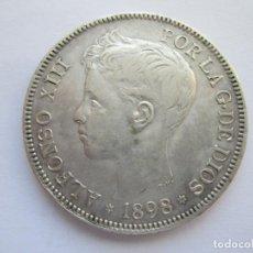 Monedas de España: ALFONSO XIII * 5 PESETAS 1898*98 SG V * PLATA. Lote 150308158