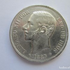 Monedas de España: ALFONSO XII * 5 PESETAS 1885*85 MS M * PLATA. Lote 150493722