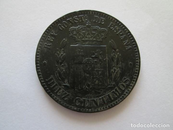 Monedas de España: ALFONSO XII * 10 CENTIMOS 1879 BARCELONA OM * - Foto 2 - 150588606