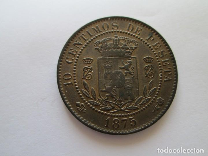 Monedas de España: CARLOS VII * 10 CENTIMOS 1875 BELGICA * S/C - Foto 2 - 150592474