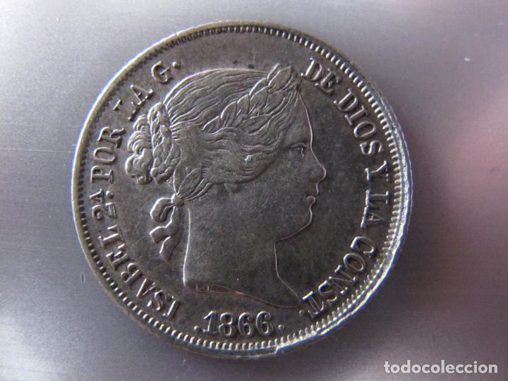 40 CÉNTIMOS DE ESCUDO - ISABEL II - 1866 - EBC (Numismática - España Modernas y Contemporáneas - De Isabel II (1.834) a Alfonso XIII (1.931))