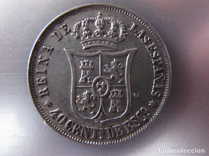 Monedas de España: 40 céntimos de escudo - Isabel II - 1866 - EBC - Foto 2 - 150942758